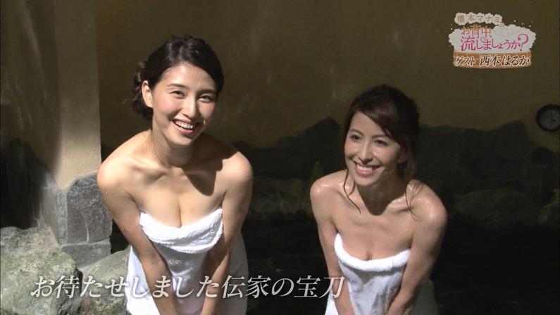 【温泉キャプ画像】温泉番組でやっぱり一番期待するのは女性タレントのハミ乳だよなww 12