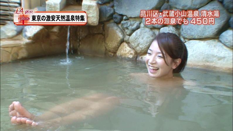 【温泉キャプ画像】温泉レポで見れるタレントさん達のハミ乳ってやっぱエロいよなw 01