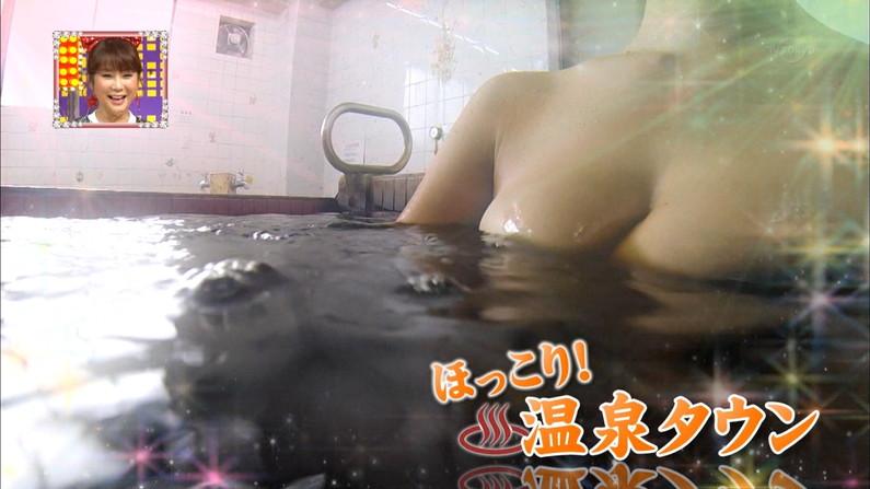 【温泉キャプ画像】温泉レポで見れるタレントさん達のハミ乳ってやっぱエロいよなw 14