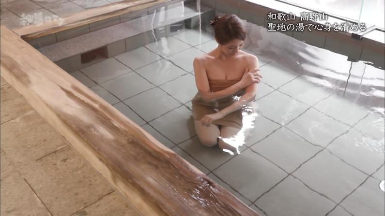 【温泉キャプ画像】温泉レポで見れるタレントさん達のハミ乳ってやっぱエロいよなw 18