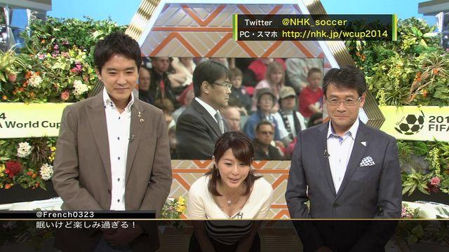 【胸ちらキャプ画像】豊満なオッパイをテレビで見せつけてくるタレントたちww 03