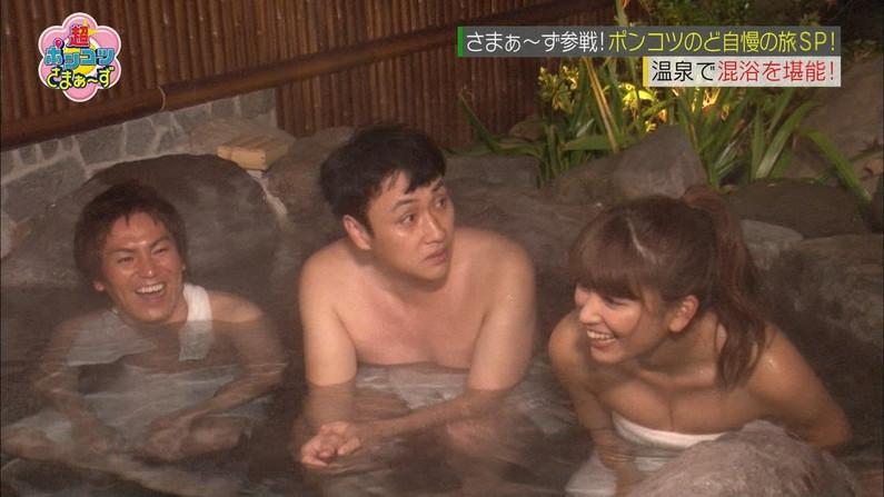 【温泉キャプ画像】この季節こんな巨乳の美人なタレントさんと一緒にお風呂入れたら最高だろうなw 14
