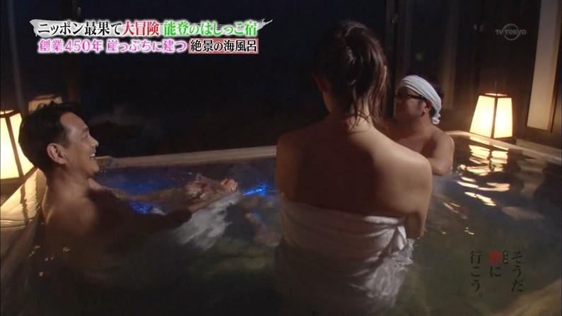 【温泉キャプ画像】この季節こんな巨乳の美人なタレントさんと一緒にお風呂入れたら最高だろうなw 18