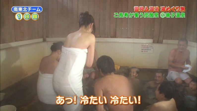 【温泉キャプ画像】温泉レポの時にオッパイの見せ方があざとい女性タレント達w 01