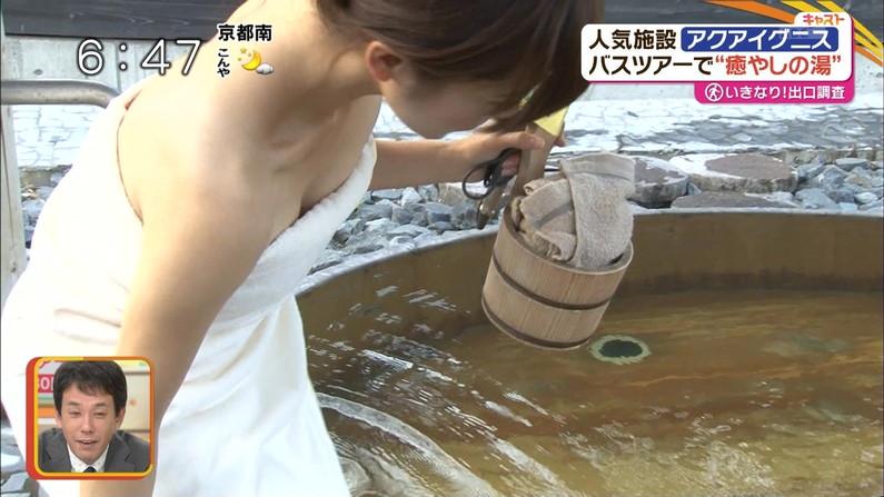 【温泉キャプ画像】温泉レポの時にオッパイの見せ方があざとい女性タレント達w 08