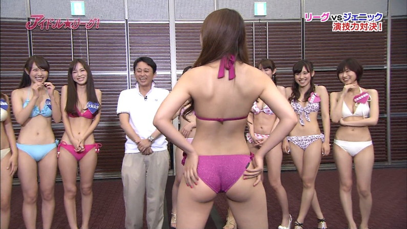 【お尻キャプ画像】水着やらパンツからお尻がハミだしまくってる美女達がテレビに出てるぞww 01