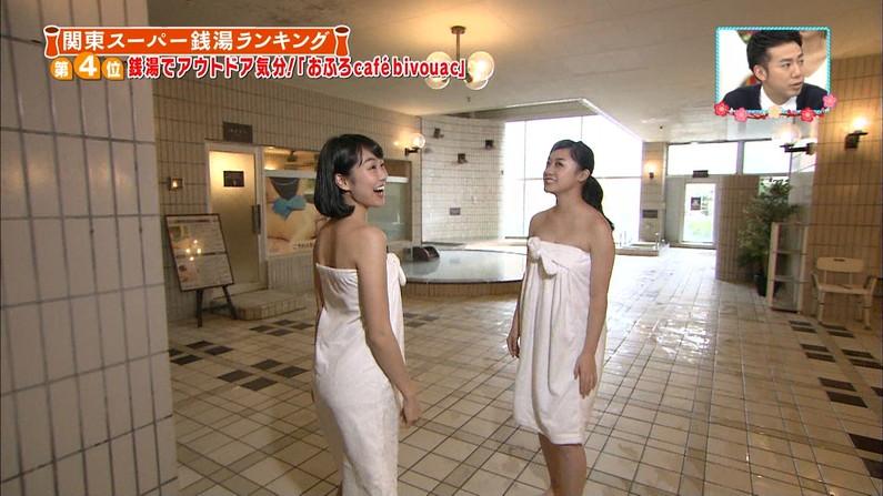 【温泉キャプ画像】タレントさん達がハミ乳し放題の温泉レポートw 12