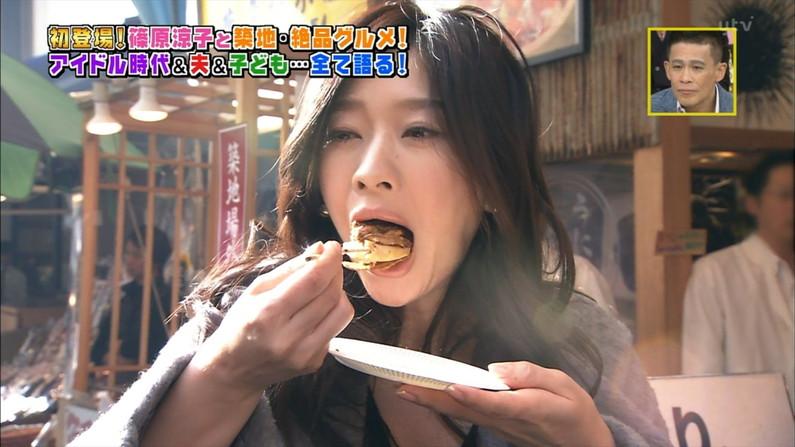 【擬似フェラキャプ画像】後でオンエア見てビックリ!私ってこんなにエロい顔して食レポしてたの!?w