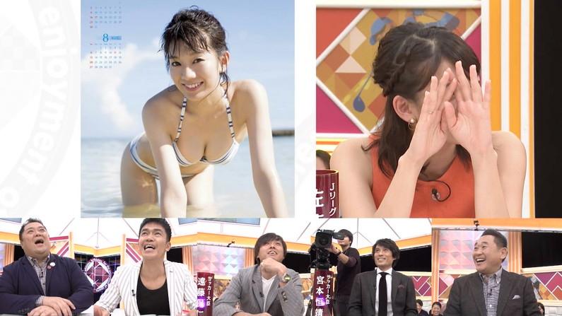 【水着キャプ画像】水着や下着からこぼれんばかりの巨乳美女がテレビに出てオッパイアピールw 10