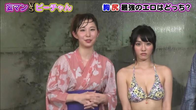 【水着キャプ画像】水着や下着からこぼれんばかりの巨乳美女がテレビに出てオッパイアピールw 24
