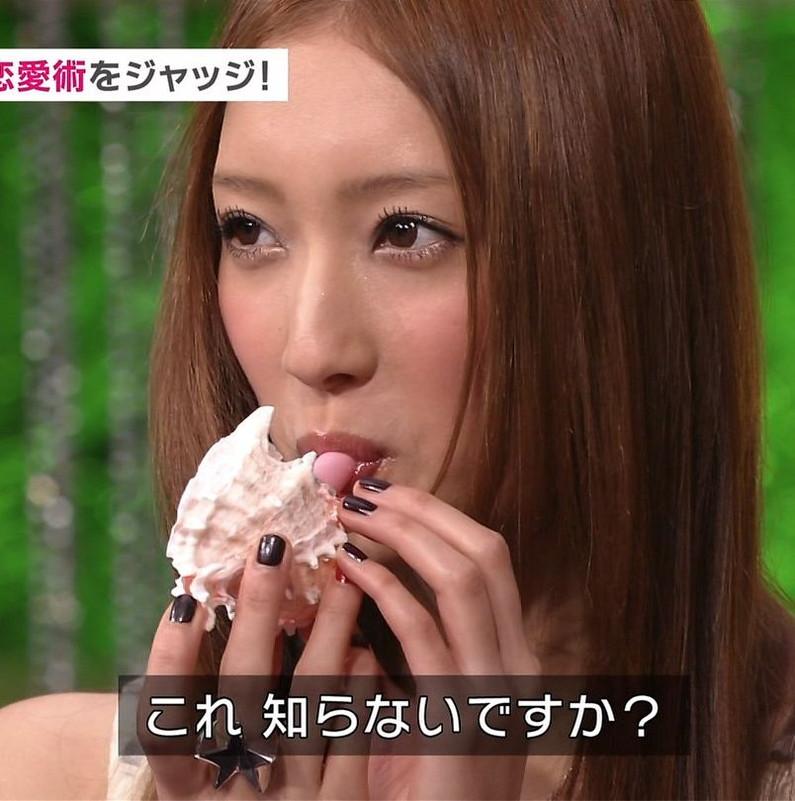 【擬似フェラキャプ画像】食レポの食べ方がどう見てもエロく見えてしまう女子アナ達w 08