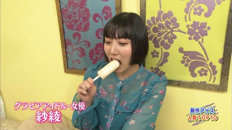 【擬似フェラキャプ画像】食レポの食べ方がどう見てもエロく見えてしまう女子アナ達w 11
