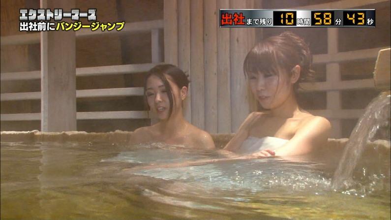 【温泉キャプ画像】テレビでタレントがお風呂入ってたらやっぱりオッパイにしか目が行かないよなw 07