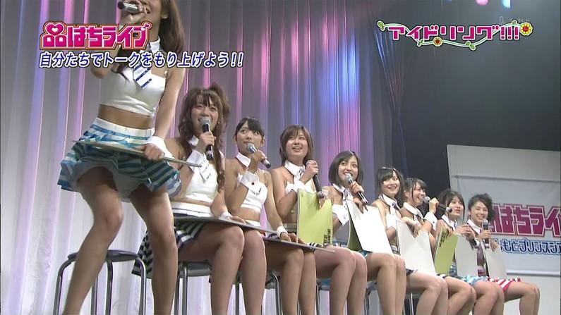 【パンチラキャプ画像】テレビでこんなけスカートの奥まで見えてるんだからこれはパンツだろ?w 12