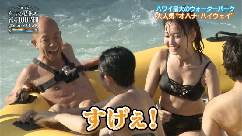 【水着キャプ画像】巨乳美女がエロい水着や下着姿でテレビに出て来てオッパイ見せまくりw 18