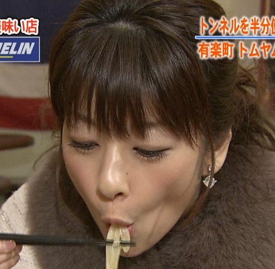 【擬似フェラキャプ画像】食レポしてる時の表情がエロい顔にしか見えないタレント達w 03