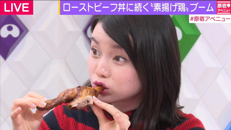 【擬似フェラキャプ画像】食レポしてる時の表情がエロい顔にしか見えないタレント達w 09