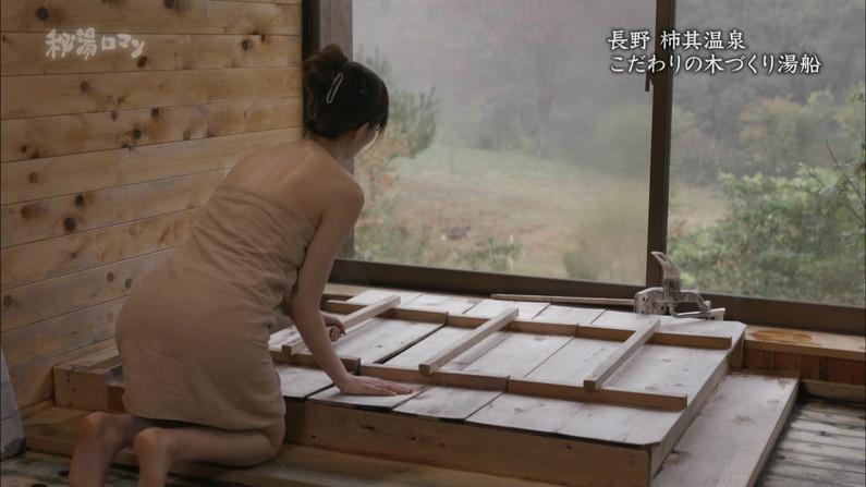 【温泉キャプ画像】テレビでやる温泉番組のタレント達の入浴シーンってやっぱエロいよなw 08