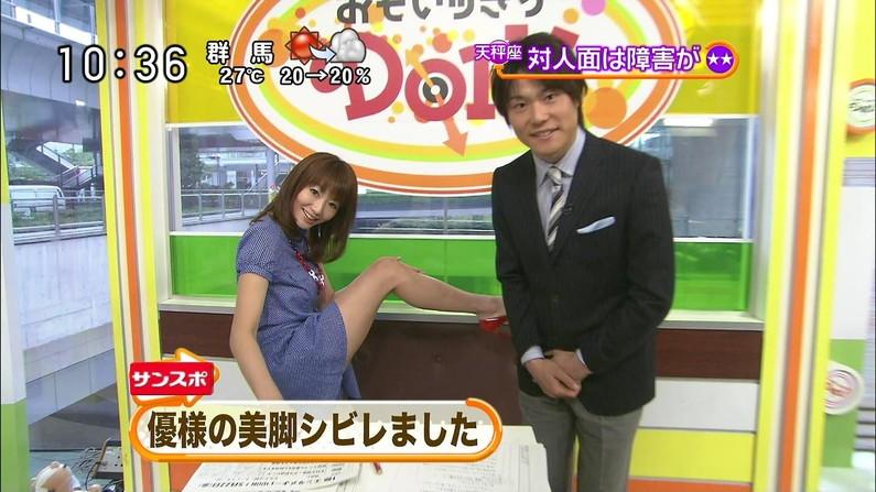 【太ももキャプ画像】タレントさん達の綺麗な脚で一度虐められてみたくはありませんか?w 20
