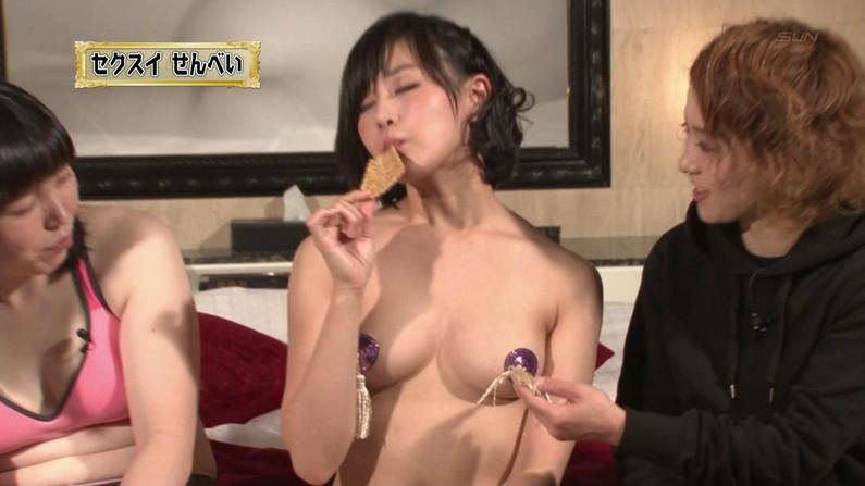 【お宝キャプ画像】バコバコTVで巨乳美女がオッパイ強調しながらイカ臭い物舐めてた!ww 11