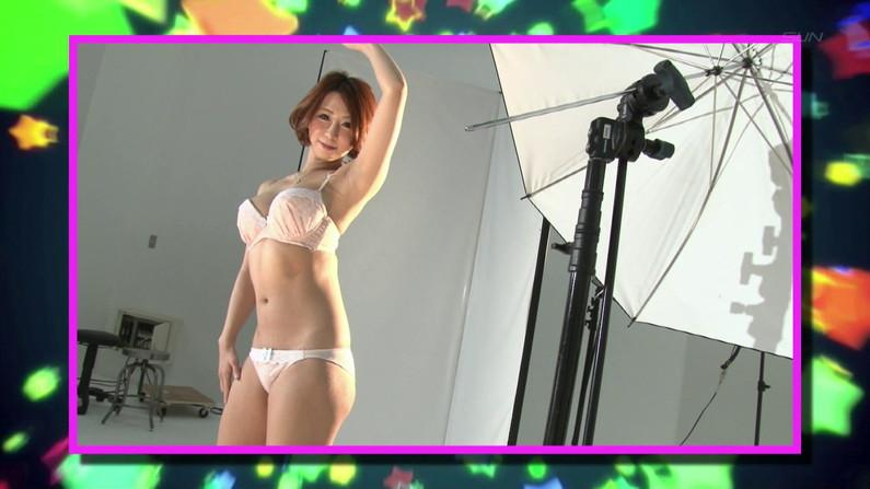 【お宝キャプ画像】バコバコTVで巨乳美女がオッパイ強調しながらイカ臭い物舐めてた!ww 15