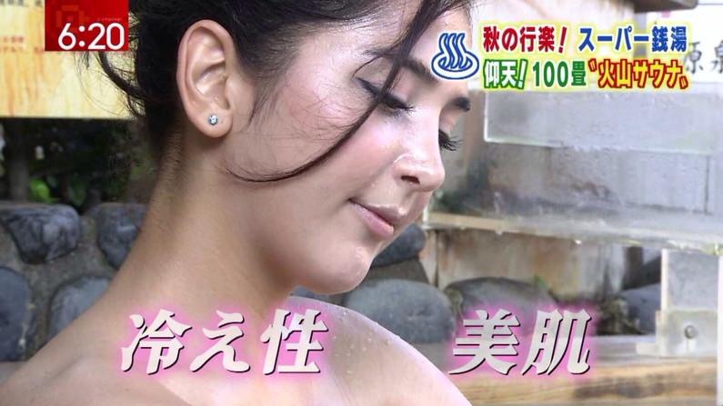 【温泉キャプ画像】建前は温泉レポとか言うが事実上女性タレントの入浴姿を拝めるエロ企画w 24