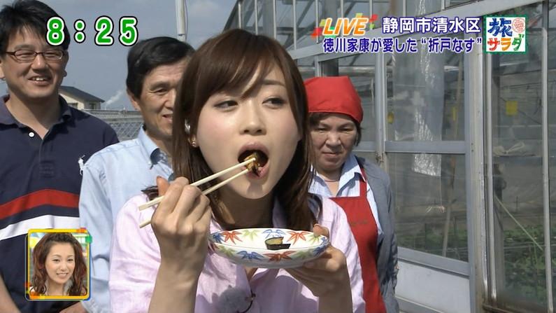 【擬似フェラキャプ画像】食レポの時に現れるタレント達のフェラ顔がエロくてたまらんww
