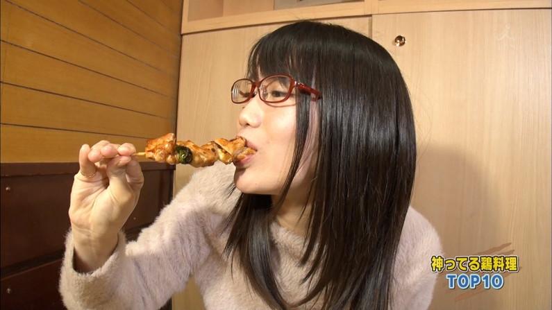【擬似フェラキャプ画像】食レポの時に現れるタレント達のフェラ顔がエロくてたまらんww 07