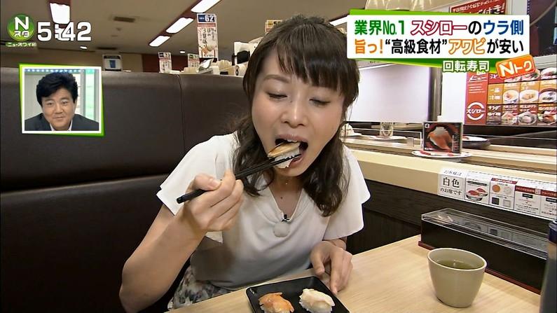 【擬似フェラキャプ画像】食レポの時に現れるタレント達のフェラ顔がエロくてたまらんww 16
