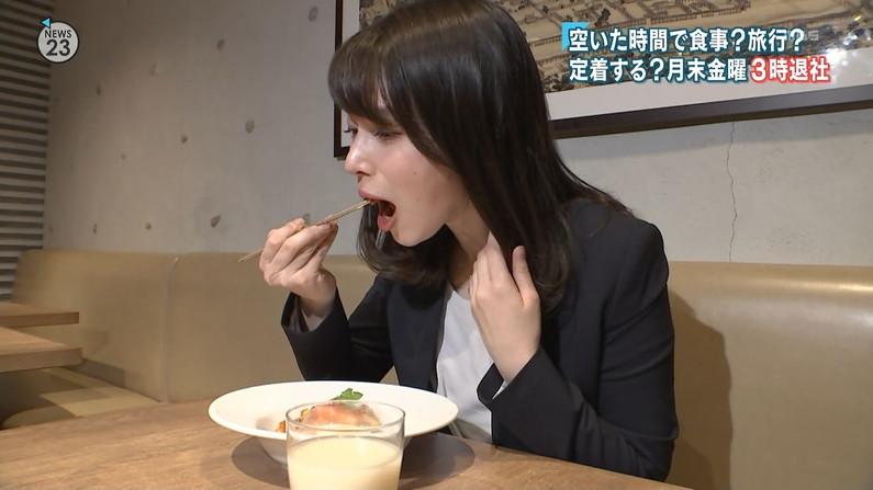 【擬似フェラキャプ画像】食レポ時の顔がエロすぎるタレント達のフェラ顔をご覧あれw 11