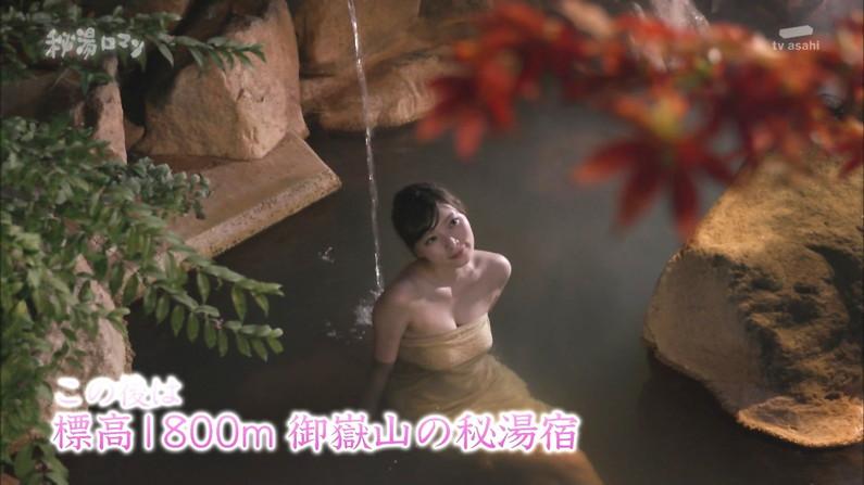 【温泉キャプ画像】タレントさん達がハミ乳しながら温泉レポートしてるんだけどw 12