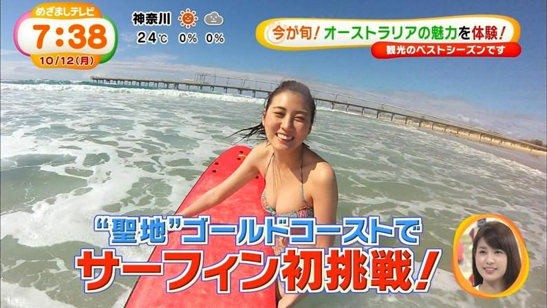 【水着キャプ画像】オッパイが水着からはみ出しまくりw思わず水着をズリ下げたくなる巨乳アイドル達w 15
