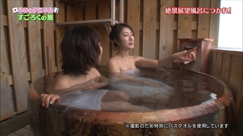 【温泉キャプ画像】やっぱり女性リポーターの谷間が絶対気になっちゃう温泉レポw 07