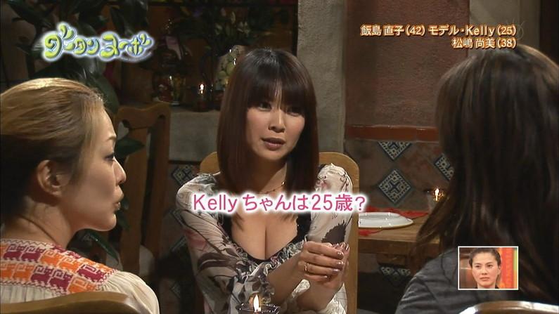 【胸ちらキャプ画像】わざわざテレビで胸ちら見せつけるタレント達のオッパイがエロッww 16