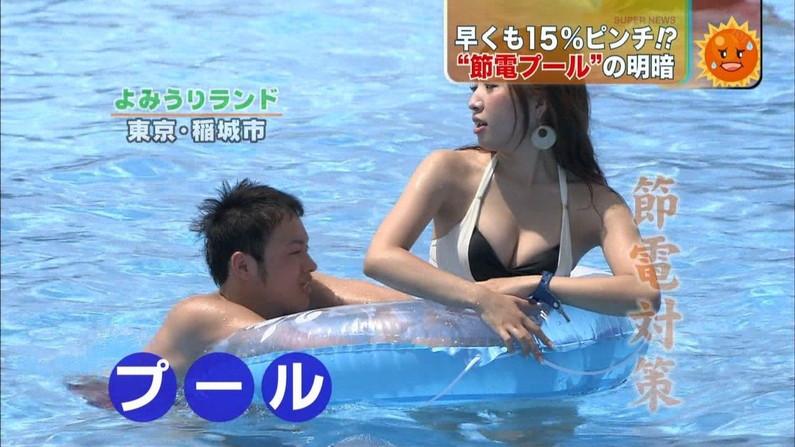 【水着キャプ画像】夏が恋しくなったから水着姿のテレビに映った巨乳の素人美女集めたったw 07