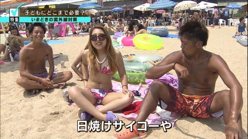 【水着キャプ画像】夏が恋しくなったから水着姿のテレビに映った巨乳の素人美女集めたったw 09