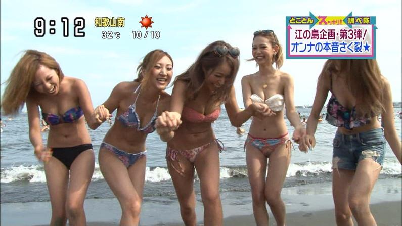 【水着キャプ画像】夏が恋しくなったから水着姿のテレビに映った巨乳の素人美女集めたったw 12