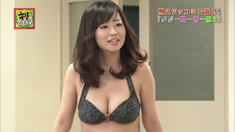 【水着キャプ画像】夏が恋しくなったから水着姿のテレビに映った巨乳の素人美女集めたったw 23