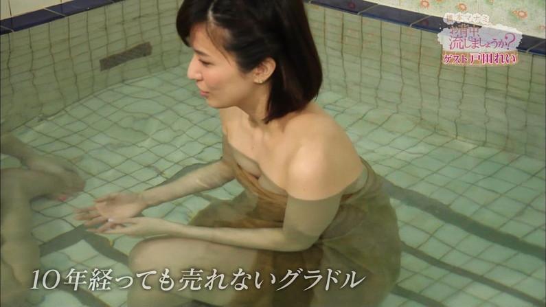 【温泉キャプ画像】ハミ乳しまくりでポロリが期待できる温泉レポートww 17