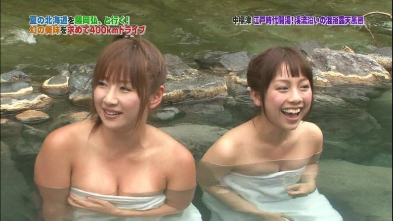 【温泉キャプ画像】谷間見せつける美女達のセクシー入浴シーンって思わず見入ってしまいますねw 08