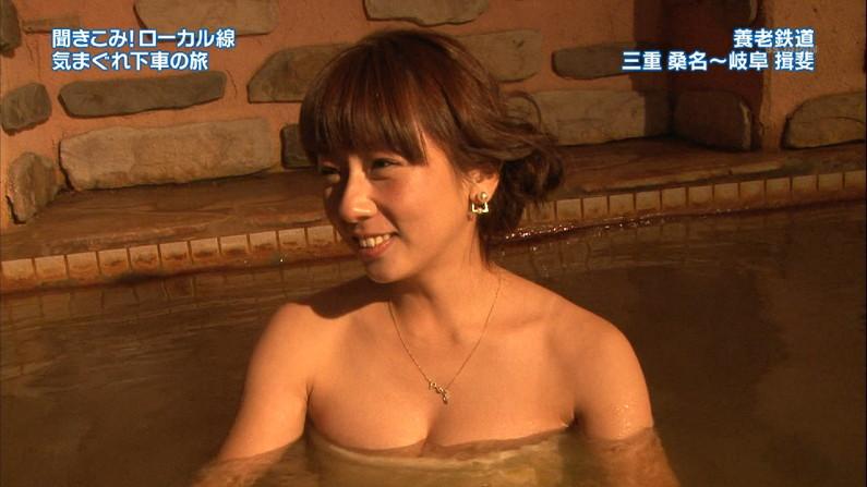 【温泉キャプ画像】谷間見せつける美女達のセクシー入浴シーンって思わず見入ってしまいますねw 12