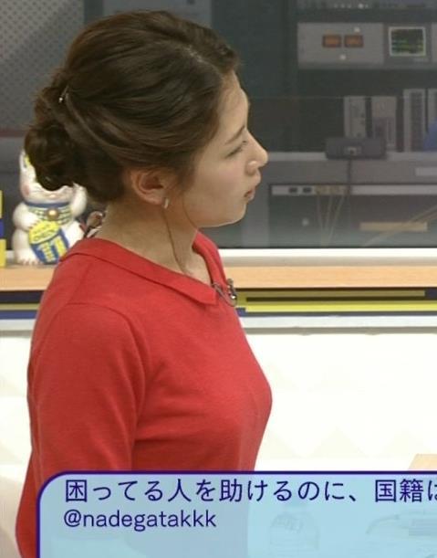 【着衣オッパイキャプ画像】服着てても目立っちゃう巨乳女子アナ達ww 14