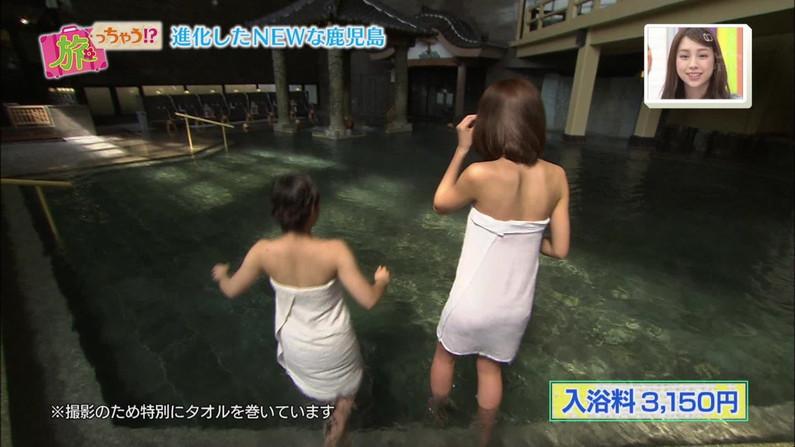 【温泉キャプ画像】バスタオルを透かして見たくなるタレント達の温泉レポww 03
