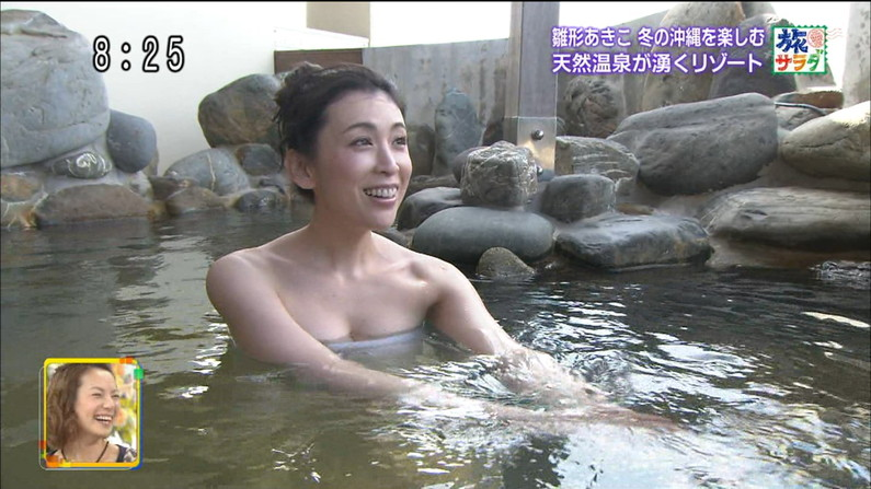 【温泉キャプ画像】バスタオルを透かして見たくなるタレント達の温泉レポww 04