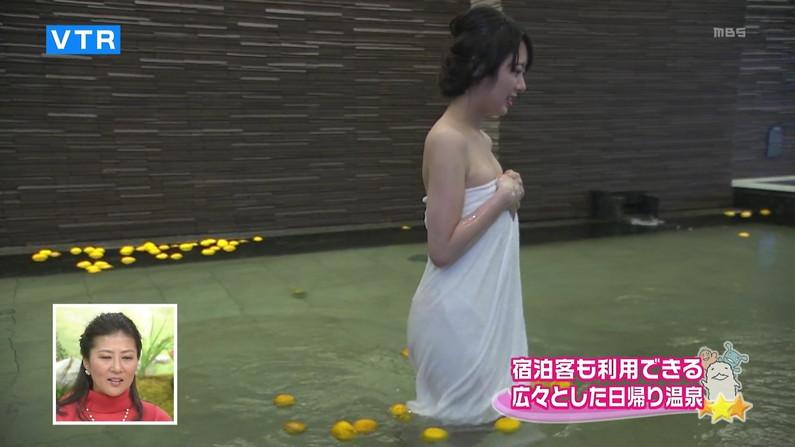 【温泉キャプ画像】バスタオルを透かして見たくなるタレント達の温泉レポww 05