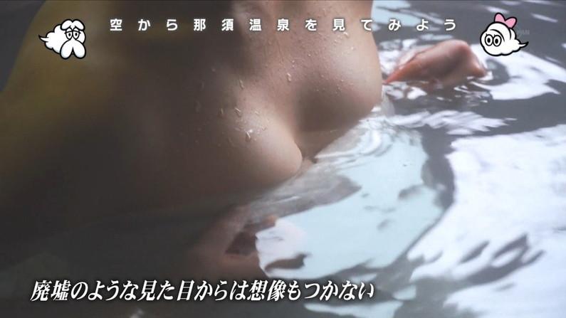 【温泉キャプ画像】バスタオルを透かして見たくなるタレント達の温泉レポww 07