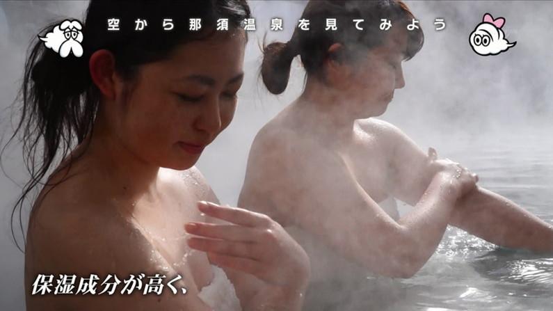 【温泉キャプ画像】バスタオルを透かして見たくなるタレント達の温泉レポww 11
