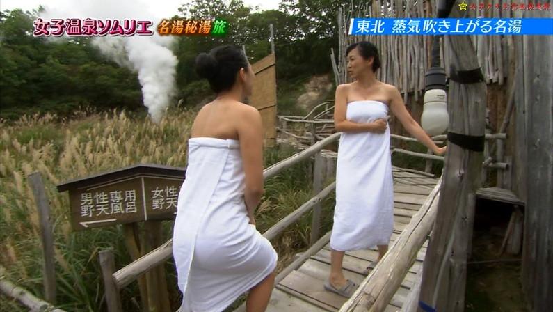 【温泉キャプ画像】バスタオルを透かして見たくなるタレント達の温泉レポww 12