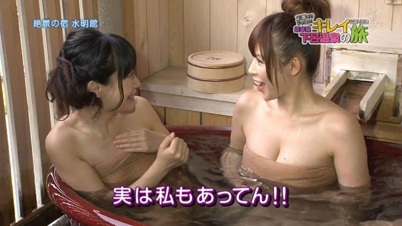 【温泉キャプ画像】バスタオルを透かして見たくなるタレント達の温泉レポww 13