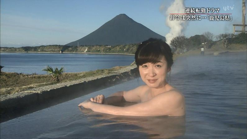 【温泉キャプ画像】バスタオルを透かして見たくなるタレント達の温泉レポww 15